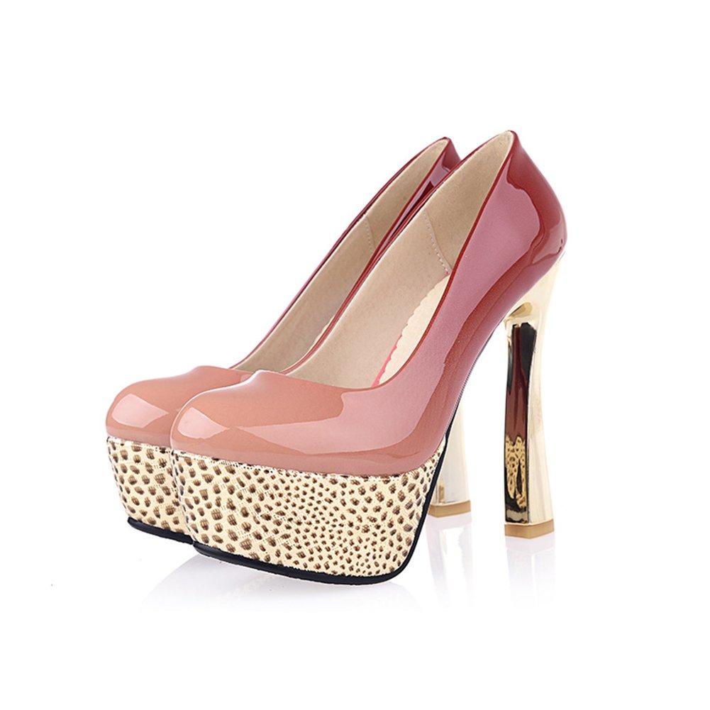 Zapatos Noche Cuero de Mujer de Imitación de Cuero Noche 2018 y Primavera 2018 c49b57