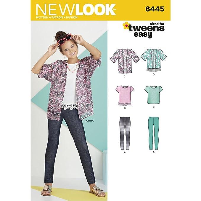 New Look/Knit Top y Leggings de Kimono de niña patrón de Costura ...