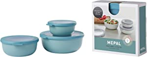 Mepal Set Multi Bowl, Pp/Tpe, Nordic Green, One Size