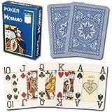 Modiano Cristallo 100% Plastic 4-Pip Jumbo Index Playing Cards (Dark Blue)