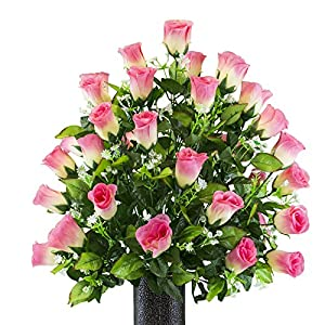 Two Tone Pink Rose, featuring the Stay-In-The-Vase Design(C) Flower Holder (MD2176) 74