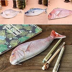 Alftek Creative - Estuche para lápices con forma de pez, estilo kawaii coreano, estuche escolar, papelería, estuche para bolígrafos calientes: Amazon.es: Hogar