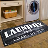 Abreeze Vintage Rug for Laundry Room Nonslip Rubber Backer Mat Floor Runner Durable Carpet Waterproof Kitchen Mats (20…