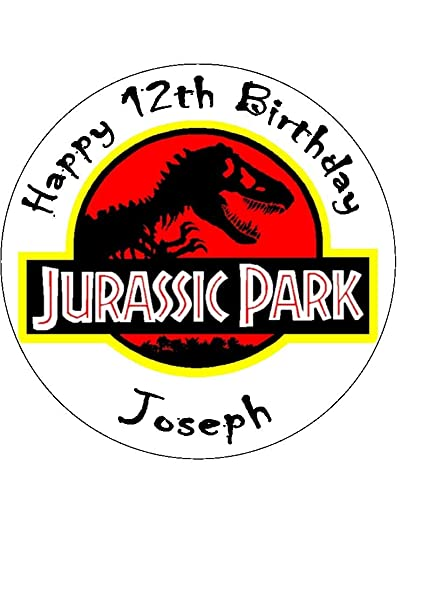 75 Jurassic Park Personalised Edible Icing Birthday Cake Topper