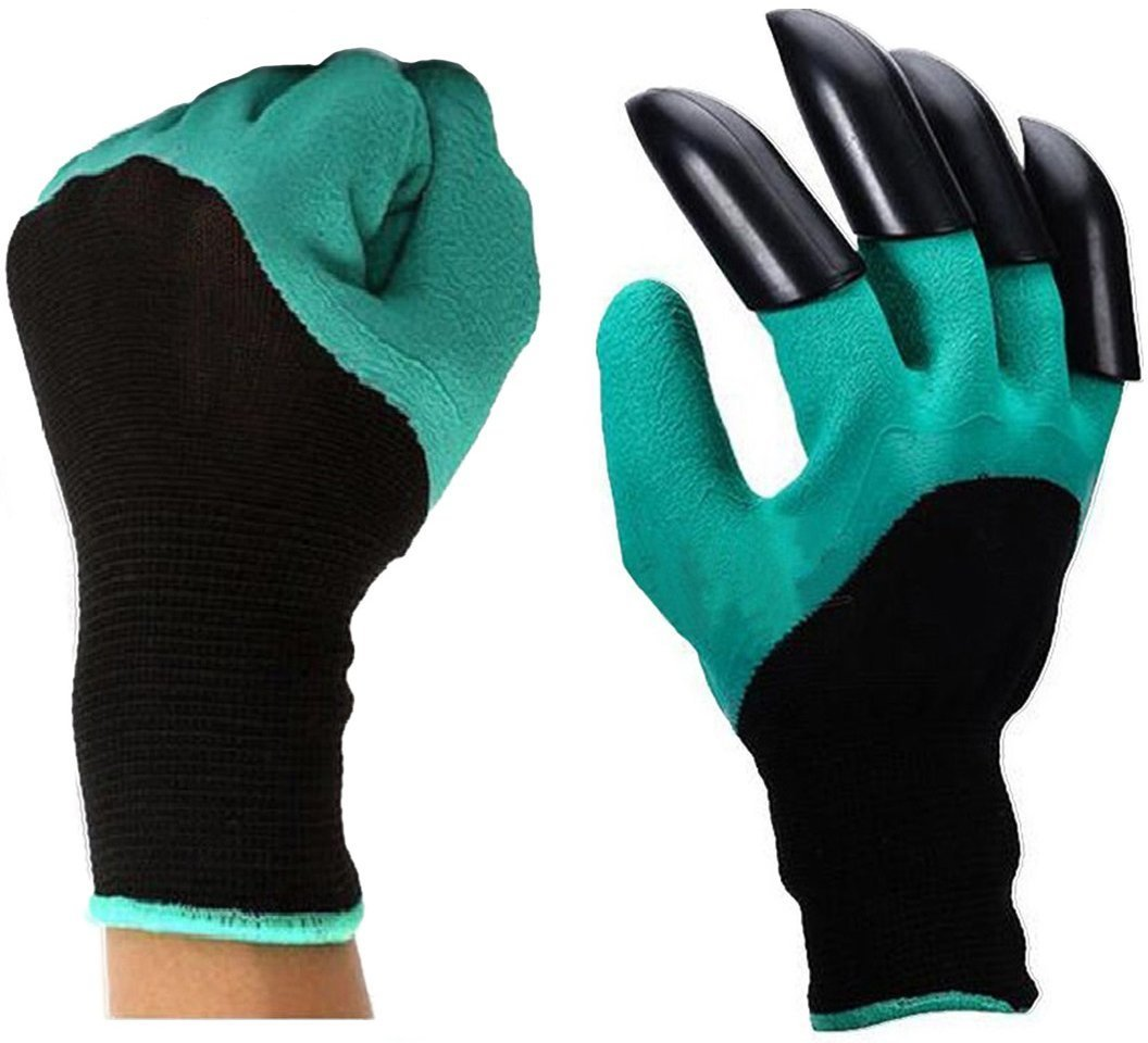 Meanch Garden Gloves with Fingertips Right Hand Claws Quick Easy to Dig and Plant