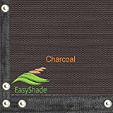 Easyshade Heavy Duty Mesh Fabric Edges & Grommets Shade for Patio Canopy Awnings (6ft x 24ft, Charcoal)