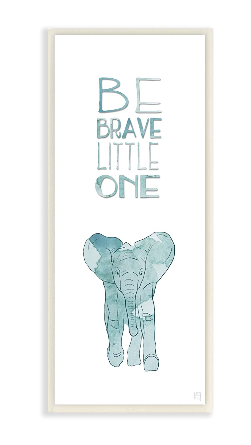 Stupell Home Décor Be Brave Little One Elephant Wall Plaque Art, 7 x 0.5 x 17, Proudly Made in USA Stupell Industries brp-1773_wd_7x17