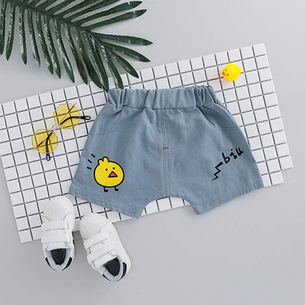 Guesspower Pyjama B/éb/é Filles Gar/çons Combinaisons en Coton Grenouill/ères Bodys Manche Courte Impression de Canard Top Couleur Unie Pantalon Court Costume 2 Pi/èces