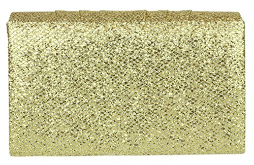 Girly Glitter Gold HandBags Glitter Girly Bag Pleated Clutch HandBags ZxaHqvUwd