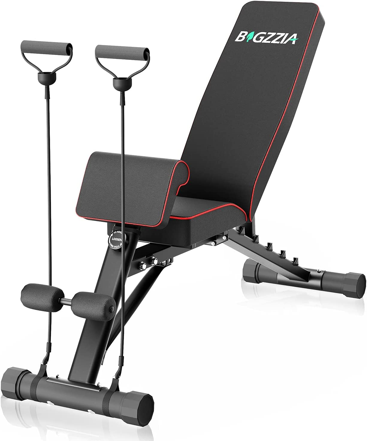 Bigzzia Weight Bench Adjustable Strength Training Bench for Full Body Workout All-in-One Durable Exercise Bench Flat/Incline/Decline Workout Bench for Home Gym Dumbbells Bench with Widen Seat