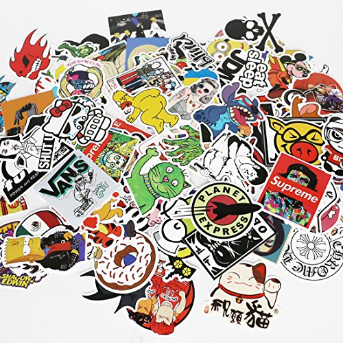 UTSAUTO Graffiti Stickers Decals Pack of 100 pcs Car Stickers Motorcycle Bicycle Skateboard Luggage Phone Pad Laptop Stickers And Bumper Patches Decals Waterproof(Type 8) (Funny Work Cartoons)