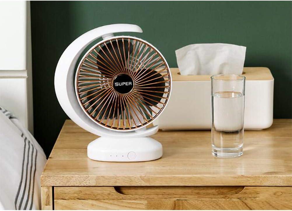 Alician USB Multifunctional Fan Charging Noiseless Desktop Gale Electric Fan for Dormitory Office Half Moon Silver