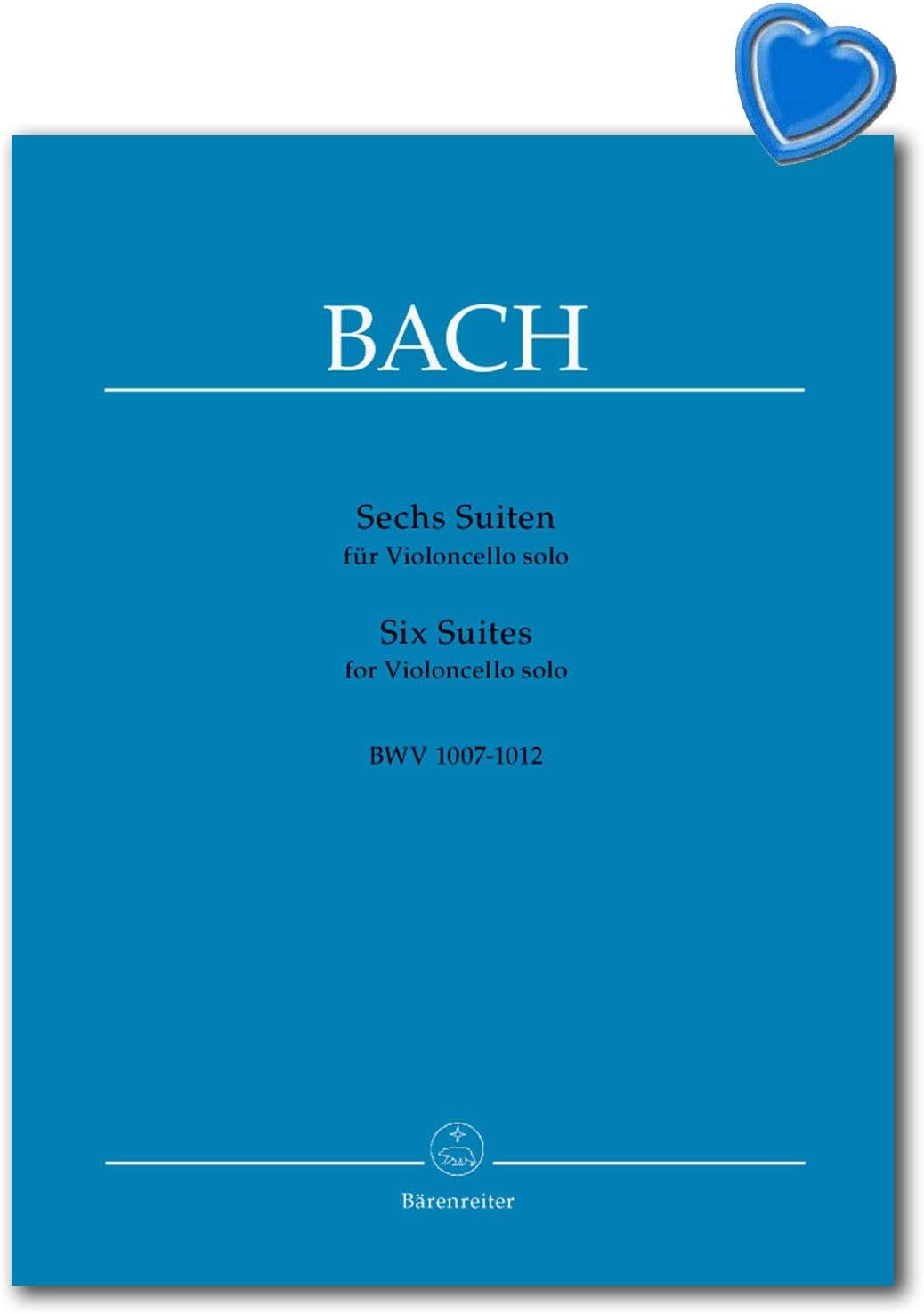 Bach 9790006401390 Seis Suiten para Violoncello solo BWV 1007-1012 - La edición estándar con denominaciones actuales - libro de partituras