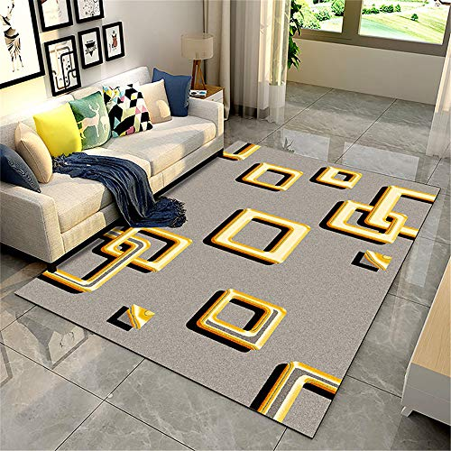 Best Seller 2 Pieces Nordic Minimalist Living Room Coffee Table Area Rugs Joker Bedroom Decor Full Bedside shag Rug American B 40X60CM