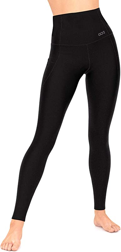 Go2 Workout Leggings For Women High Waist Running Yoga Pants With Pockets At Amazon Women S Clothing Store