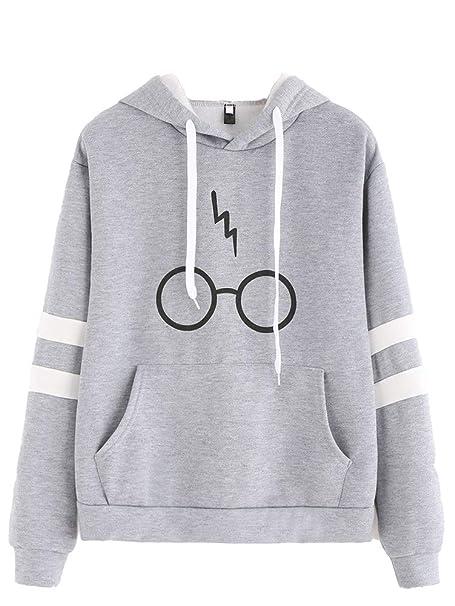 Hoodie Mujer Harry Potter Patrón Estampadas Sudaderas con Capucha Otoño Invierno Flecos Sudadera Capucha Elegante con Bolsillos Sweatshirts Señoras Slim Fit ...