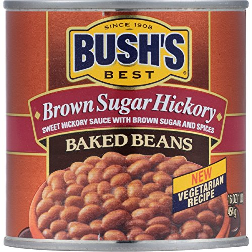 Bush's Best Brown Sugar Hickory Baked Beans, 16 oz (12 cans)