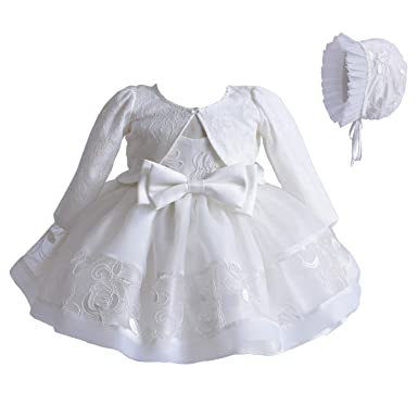 Cinda Bambino pizzo avorio Battesimi abito cofano Giacca  Amazon.it   Abbigliamento cce1ac4ad641