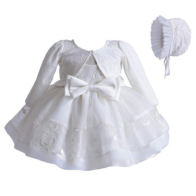 30eb1d66c3 Cinda Bambino Pizzo Avorio Battesimi Abito Cofano Giacca: Amazon.it:  Abbigliamento