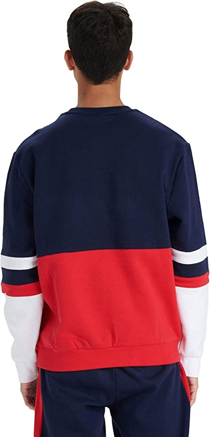 Nike Colour Block Crew Neck Sweatshirt Men/'s Pullover Fleece Top Genuine Red