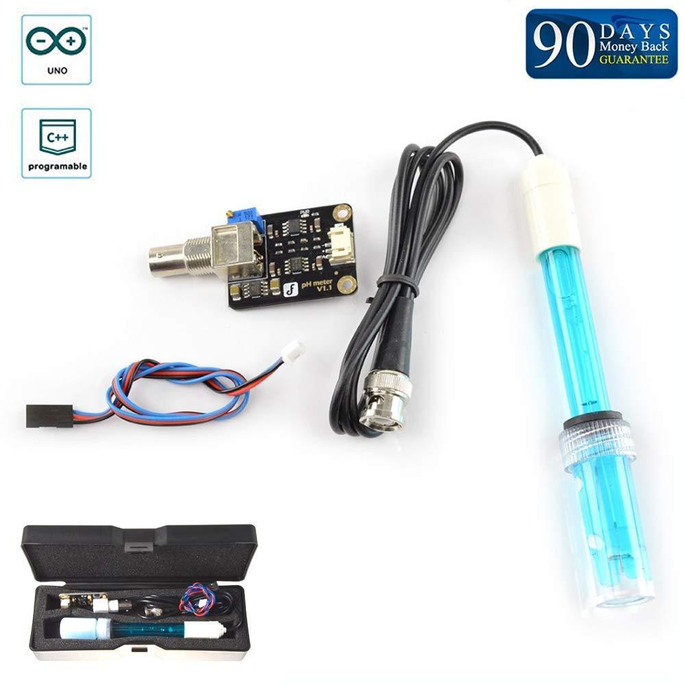Analog pH Sensor Meter Pro Kit Arduino of Raspberry Water Quality Tester Kit Ph Sensor Module PH Meter Measuring Element Water Quality Detection in Aquariums Arduino Controller