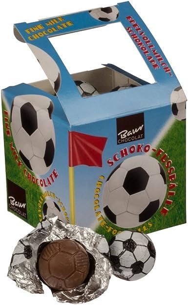 Baur Chocolate con leche fina Balones de fútbol 125 g: Amazon.es ...