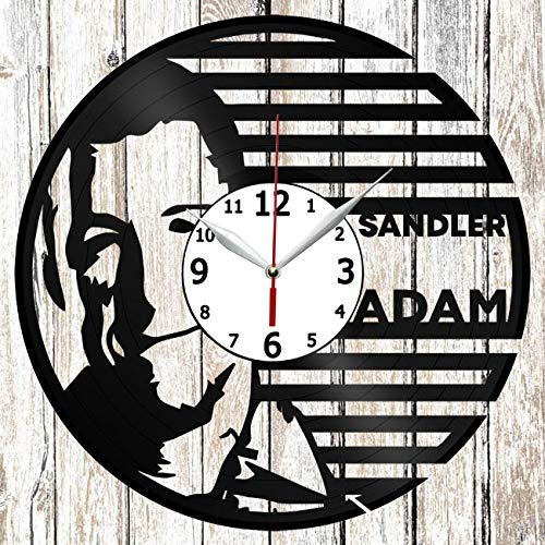 Adam Sandler Vinel Record Wall Clock Home Art Decor Unique Design Handmade Original Gift Vinyl Clock Black Exclusive Clock Fan Art ()