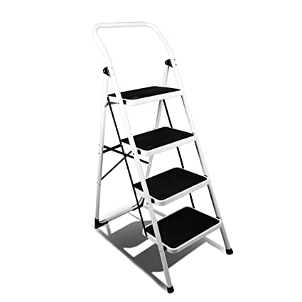 Peachy Magshion 4 Step Ladder Platform Lightweight Folding Stool Heavy Duty Industrial Safety Space Saving Pabps2019 Chair Design Images Pabps2019Com