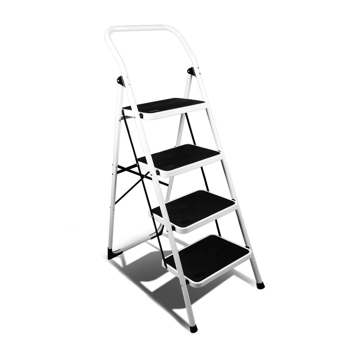 Magshion Ladder Platform Lightweight Folding Stool Heavy Duty Industrial Safety Space Saving (4 Step)