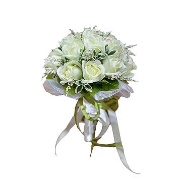Weisse Rosen Brauthochzeits Blumenstrauss Blumenstrausse Kunstliche