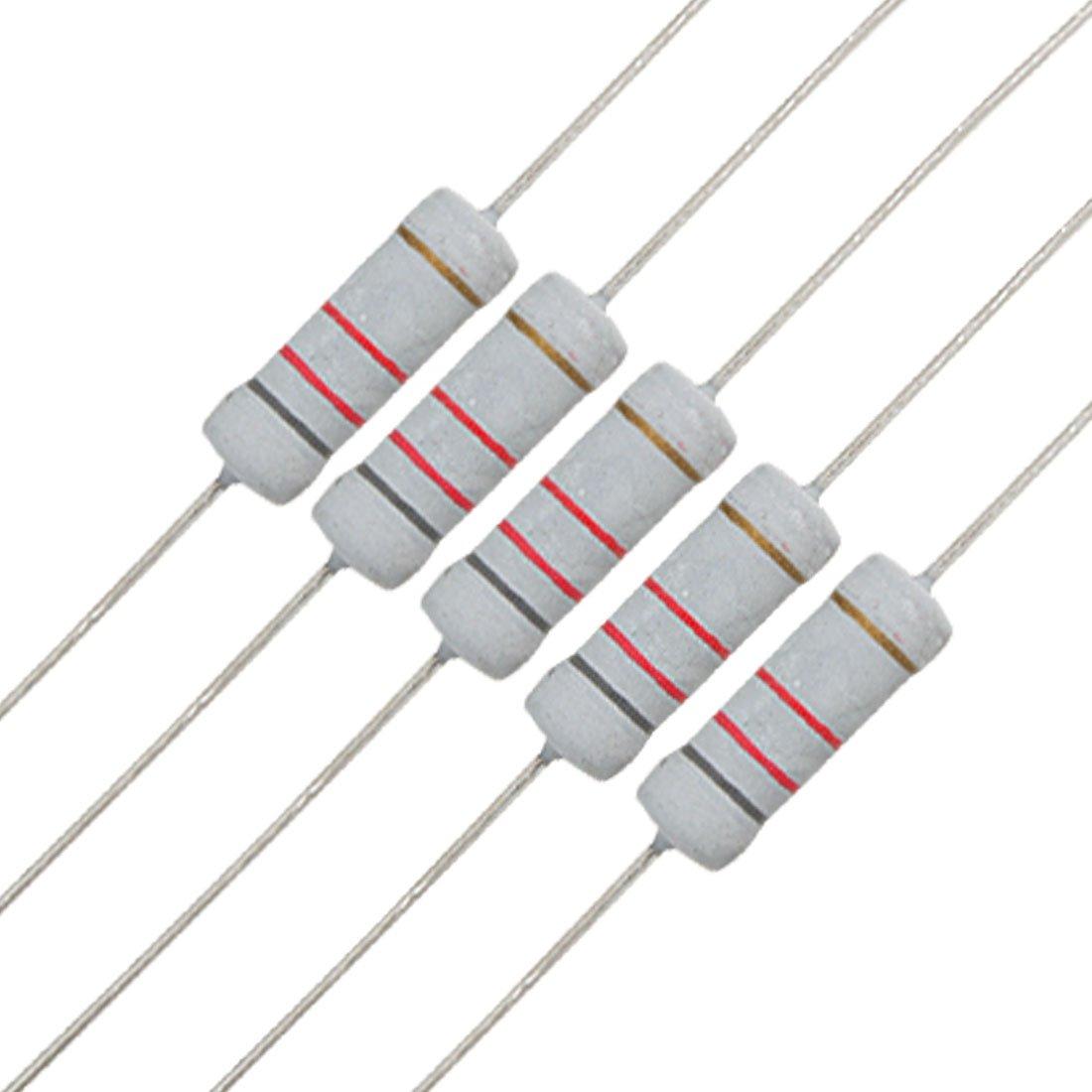 40pcs 3W 3 Watt Metal Oxide Film Resistor Axial Lead 22K Ohm ±5/% Tolerance