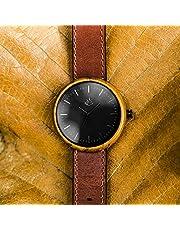 AGAVUS Reloj de madera personalizado - Edición Especial 44mm Teka. Hecho a mano, diseñado y hecho en México. Madera natural de Teka, piel 100% genuina.
