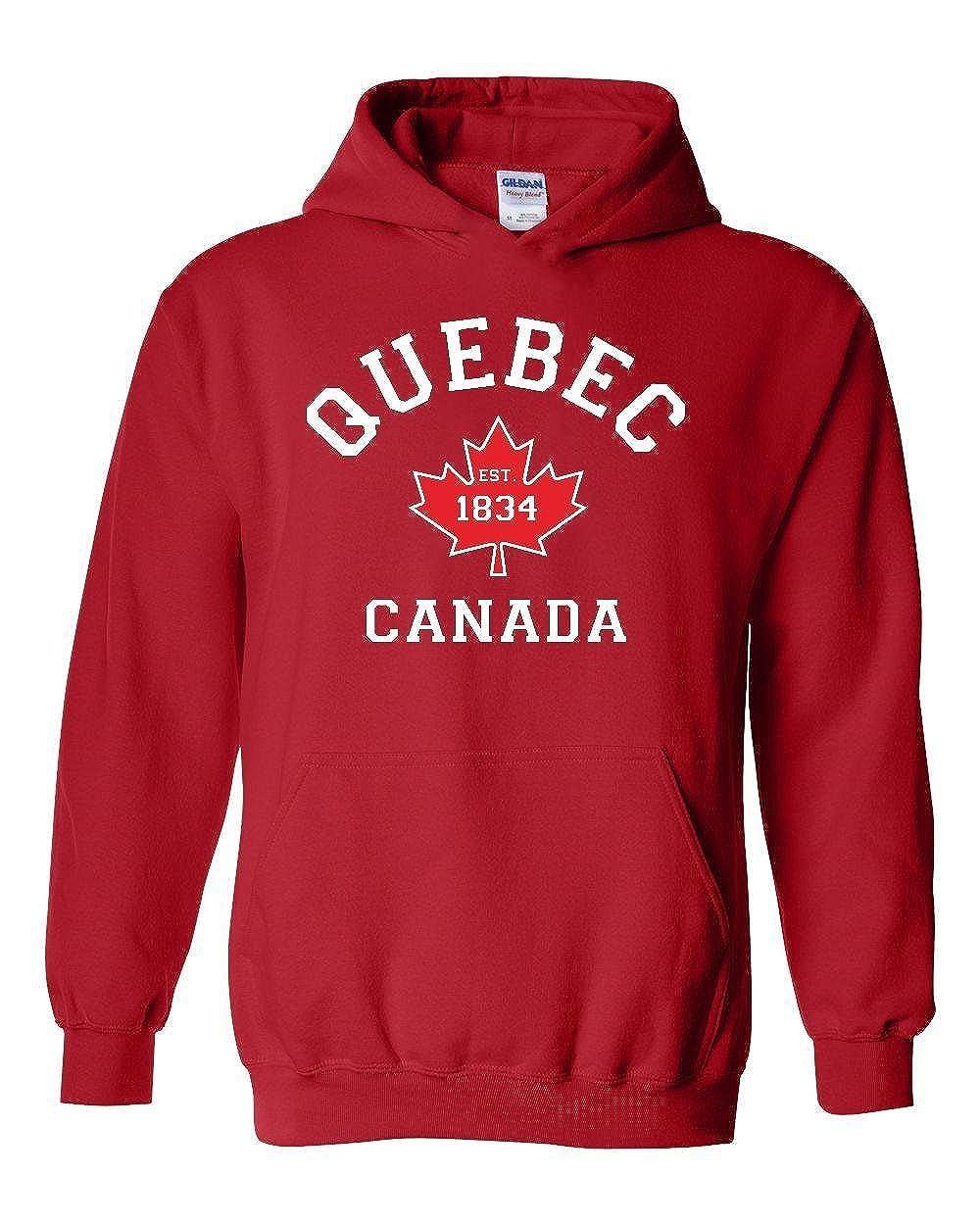 NIB Quebec Canada Maple Leaf Unisex Hoodies Sweater 18500_EO3423_L084001