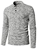 H2H Mens Color Mixed Design Casual Regular Fit Soft Touch Knit Pullover Gray US L/Asia XL (CMTTL095)