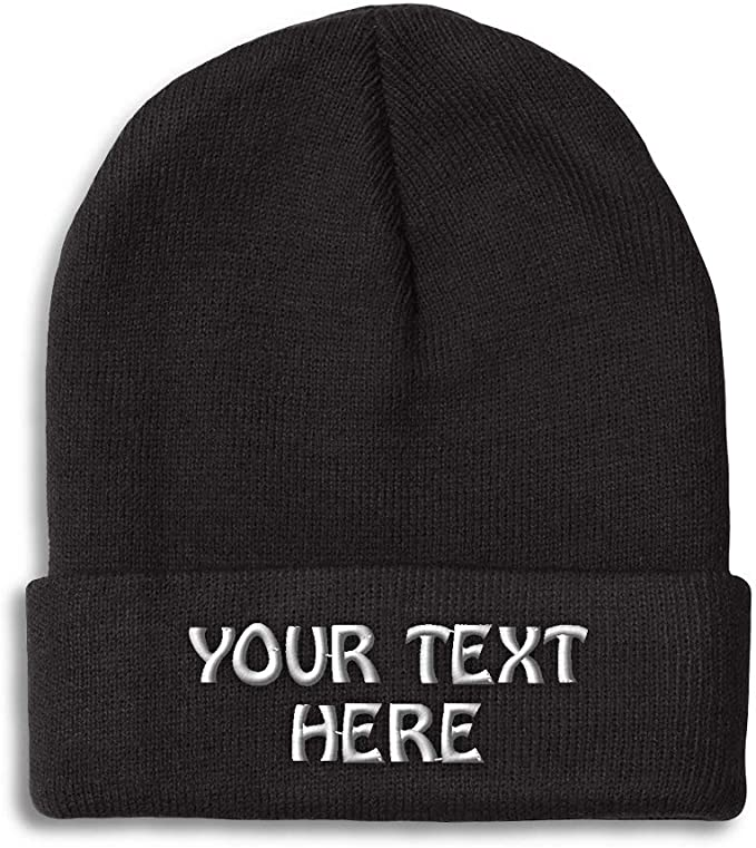 Monogrammed Beanie Personalised Gift Custom Beany Initials Beanie Hat Monogram Beanie Personalized Beanie Christmas Gift for Women