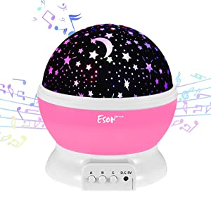 [Update]Esonstyle Musical Night Light,360 Rotating Star Lamp Baby Musical Lamp with Rechargeable Battery,12 Songs to Relax for Sleep Kids Babies Birthday Children Day Christmas Gift sleep habits for babies - 614ZMyNcrCL - Sleep habits for babies – Sleep Gadgets to help your baby fall asleep