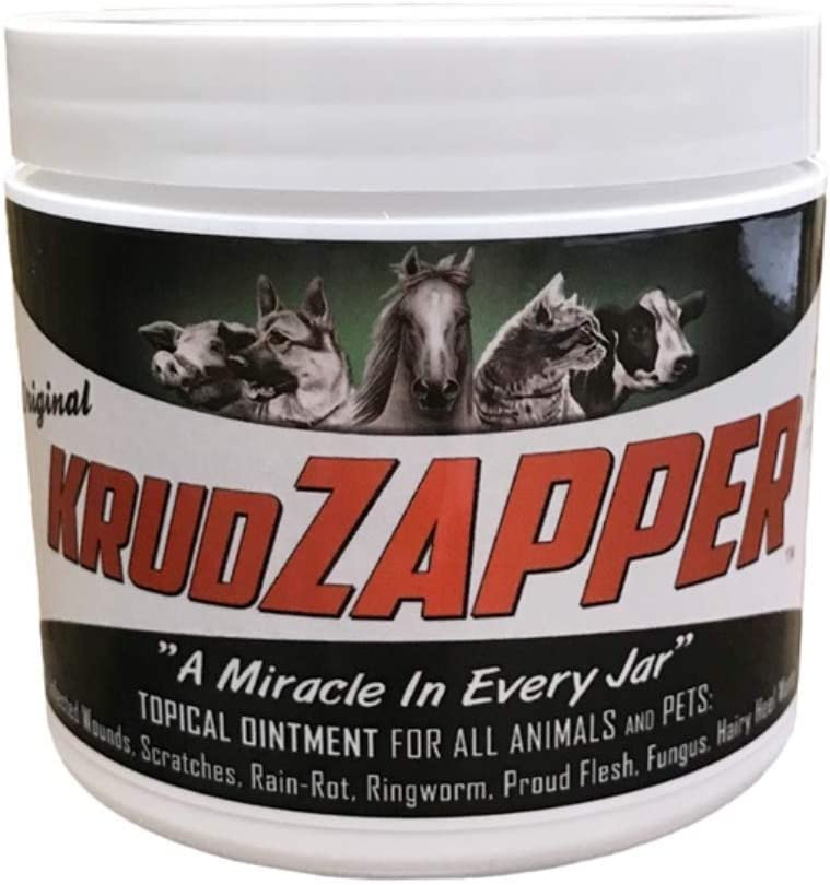 KrudZAPPER Topical Ointment for Animals and Pets. All-Natural Healing Aid for Wounds, Skin, Ears, Hooves and Paws. Protects Wounds and Promotes Healing. Safe for All Animals. (16 Ounce)