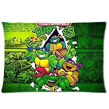 Bedroom Decor Custom Teenage Mutant Ninja Turtles TMNT Pillowcase 20x26 (Twin sides) Zippered Rectangle PillowCases Throw Pillow Covers
