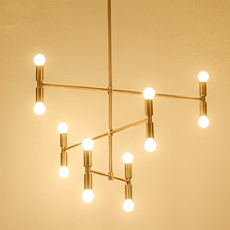 Lámpara LED de techo moderna lámpara de hierro de colgante ...