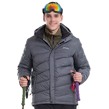 Yzibei Abrigo de Snowboard Gris para Hombres con Forro ...