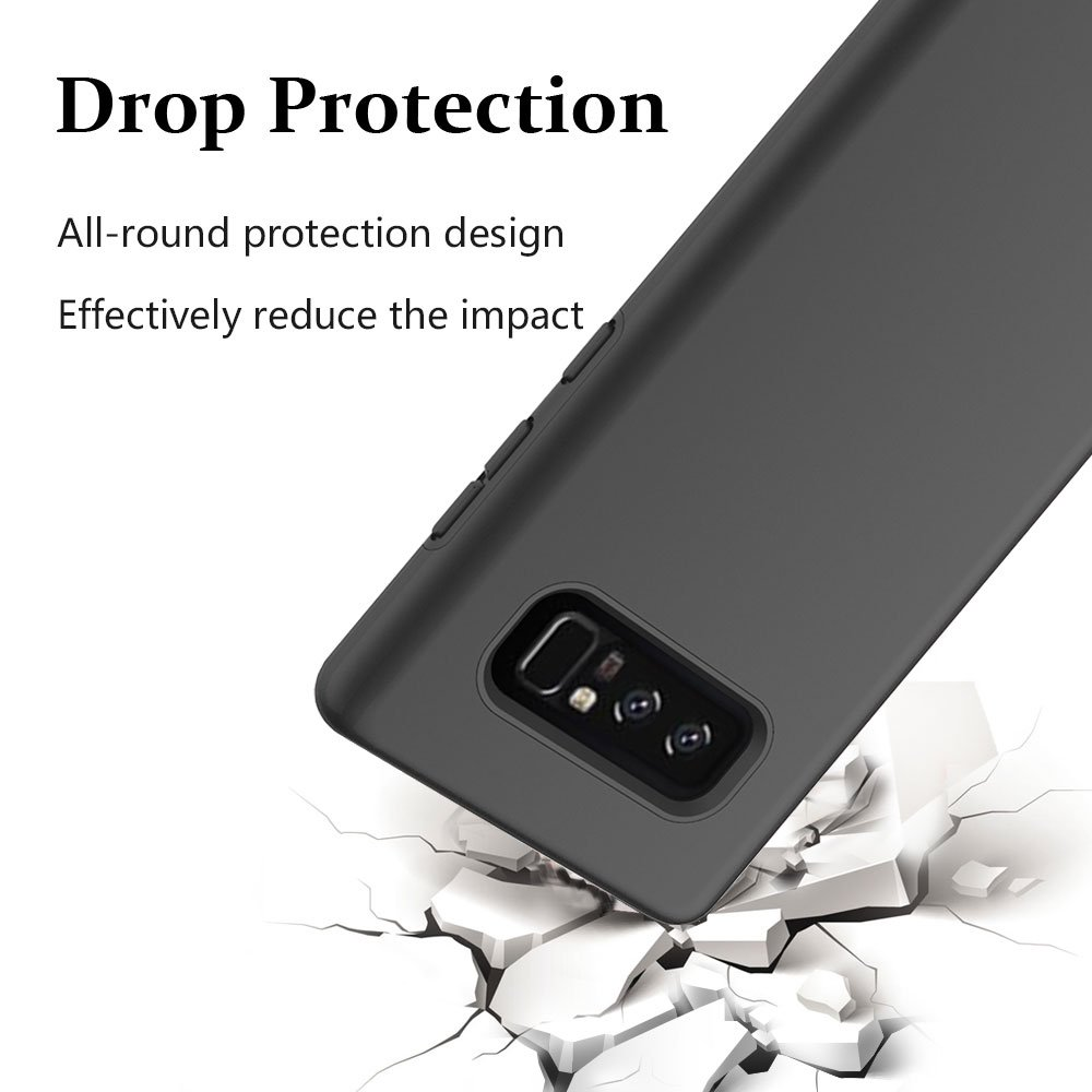 Note 8 Case, Galaxy Note 8 Case, MagicSky Slim Corner Protection Shock Absorption Hybrid Dual Layer Armor Defender Protective Case Cover for Samsung Galaxy Note 8 (Black)