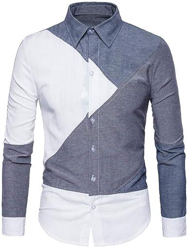 Camisas Casual Hombre Manga Larga, Covermason Trajes Formales de Manga Larga para Hombre Camiseta Blusa: Amazon.es: Ropa y accesorios