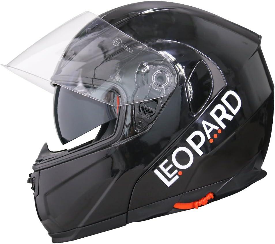 Leopard Outer Iridium Visor LEO-838 flip up Motorbike Motorcycle Helmet