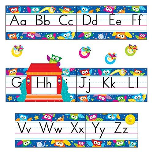 TREND enterprises, Inc. Owl-Stars! Alphabet Line Standard Manuscript B.B. Set (T-8364) -