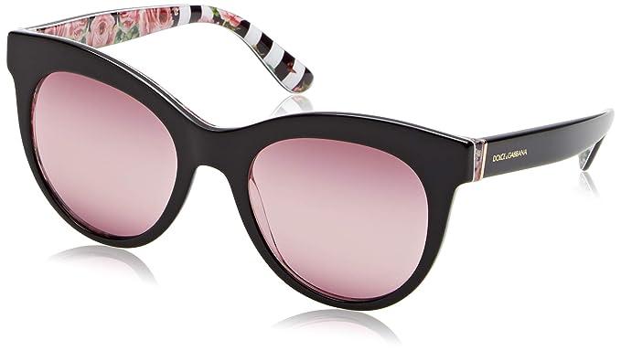 Dolce e Gabbana 0DG4311 Gafas de sol Black On Print Rose 51 ...