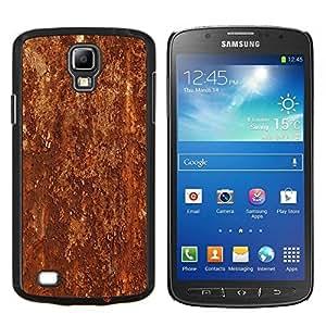 Stuss Case / Funda Carcasa protectora - Textura del modelo del metal de Brown rústico - Samsung Galaxy S4 Active i9295