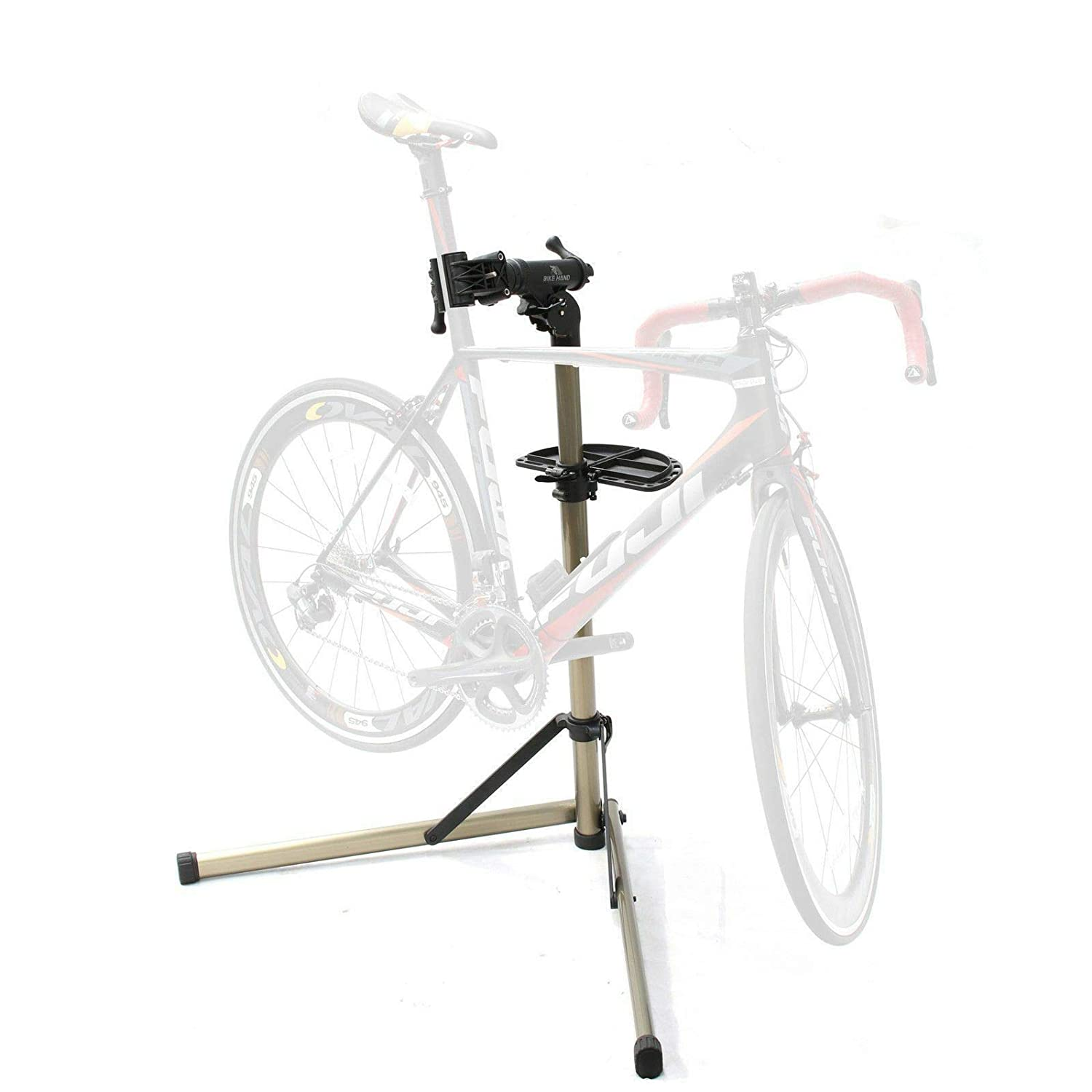 Bikehand Bike Repair Stand – Home Portable Bicycle Mechanics Workstand – for Mountain Bikes and Road Bikes Maintenance