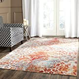 Safavieh Valencia Collection VAL218K Multicolored Distressed Abstract Watercolor Silky Polyester Area Rug (9′ x 12′) Review