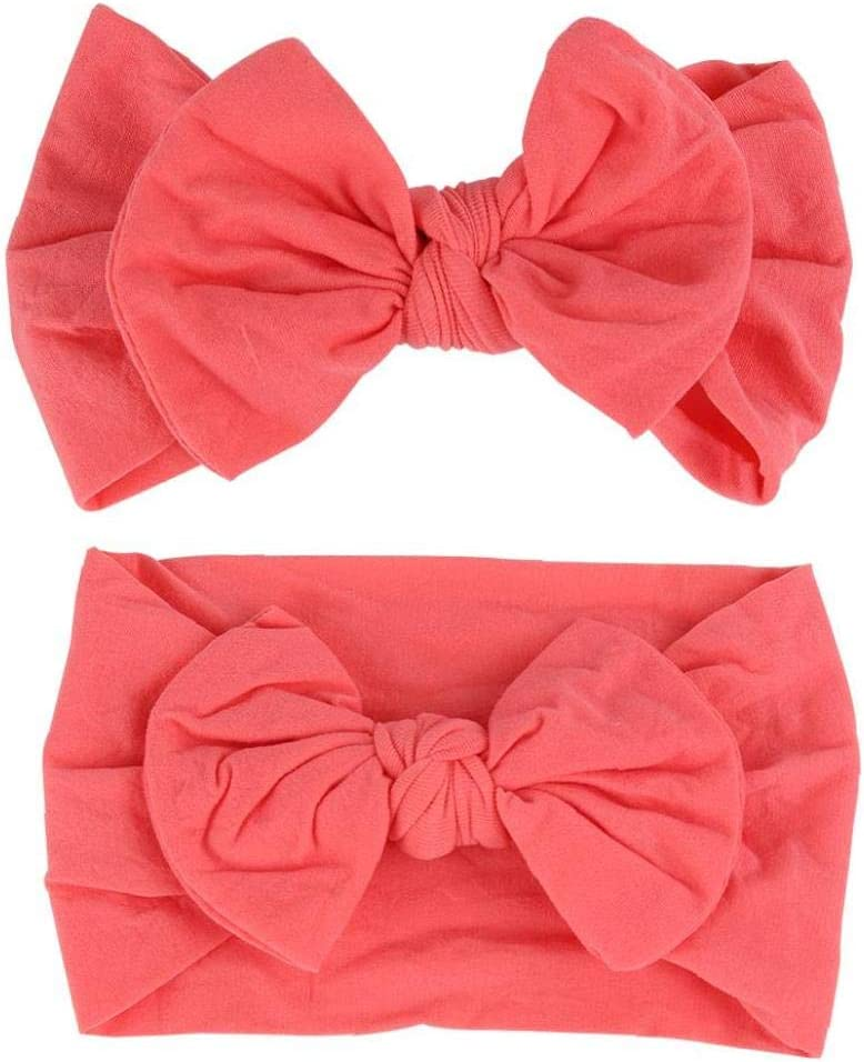 Playful Hair Band Baby Girls Headbands Baby Girls Elastic Soft Hair Band Infant Bow Headbands Turban Bows Hair Accessories 6pcs