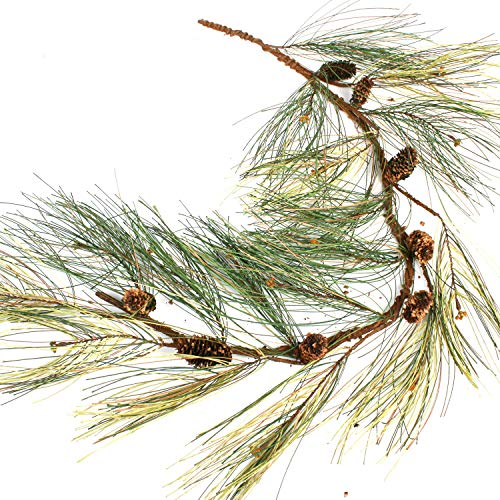 Factory Direct Craft Artificial Long Needle Pine Garland with Pine Cone Accents